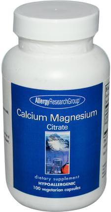 Calcium Magnesium Citrate, 100 Veggie Caps by Allergy Research Group, 補充劑,礦物質,鈣和鎂 HK 香港