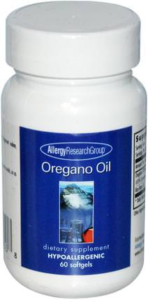 Oregano Oil, 60 Softgels by Allergy Research Group, 補充劑,牛至油 HK 香港