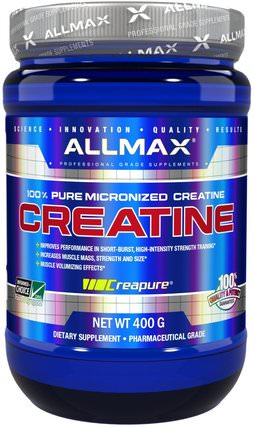 100% Pure Micronized Creatine, 14.1 oz (400 g) by ALLMAX Nutrition, 運動,肌酸粉 HK 香港