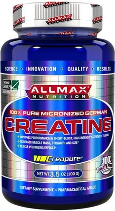100% Pure Micronized German Creatine, 3.5 oz (100 g) by ALLMAX Nutrition, 運動,肌酸粉 HK 香港
