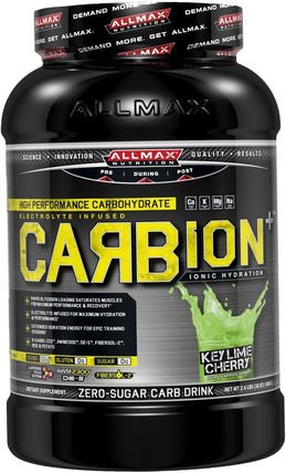 CARBion+, Maximum Strength Electrolyte + Hydration Energy Drink, Key Lime Cherry, 2.4 lbs. (1080 g) by ALLMAX Nutrition, 運動,鍛煉 HK 香港