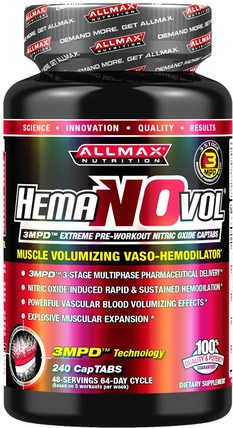 Hemanovol, 240 CapTabs by ALLMAX Nutrition, 運動,鍛煉 HK 香港