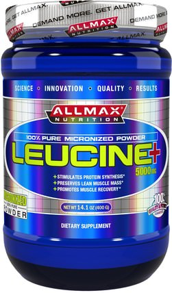 Leucine, 5000 mg, 14.1 oz (400 g) by ALLMAX Nutrition, 補充劑,氨基酸,運動,亮氨酸 HK 香港