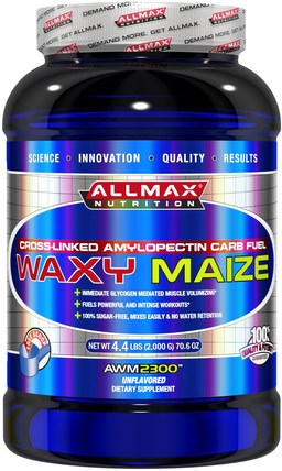 Waxy Maize, Cross-Linked Amylopectin Carb Fuel, Unflavored, 70.6 oz (2.000 g) by ALLMAX Nutrition, 運動,肌肉 HK 香港