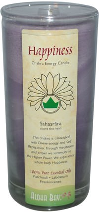 Chakra Energy Candle, Happiness, 11 oz by Aloha Bay, 洗澡,美容,蠟燭 HK 香港