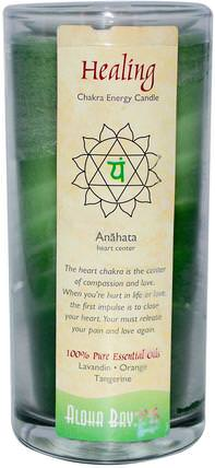 Chakra Energy Candle, Healing, Lavandin Orange Tangerine, 11 oz by Aloha Bay, 洗澡,美容,蠟燭 HK 香港