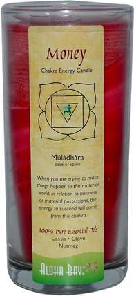Chakra Energy Candle, Money, Cassia Clove Nutmeg, 11 oz by Aloha Bay, 洗澡,美容,蠟燭 HK 香港