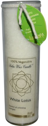 Palm Wax Candle, White Lotus, 17 oz by Aloha Bay, 洗澡,美容,蠟燭 HK 香港