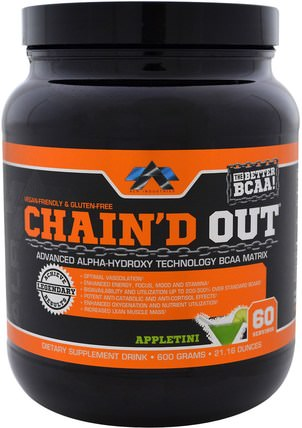 ChainD Out BCAA Matrix, Appletini, 21.16 oz (600 g) by ALR Industries, 運動,補品,bcaa(支鏈氨基酸) HK 香港