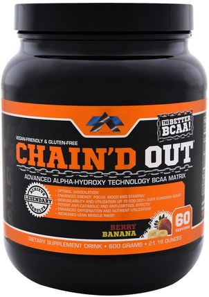 Chaind Out BCAA Matrix, Berry Banana, 21.16 oz (600 g) by ALR Industries, 運動,補品,bcaa(支鏈氨基酸) HK 香港