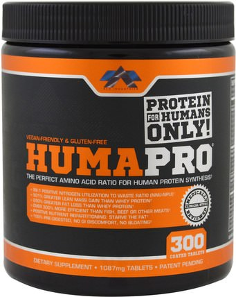 HumaPro, 1087 mg, 300 Coated Tablets by ALR Industries, 運動,補品,乳清蛋白 HK 香港