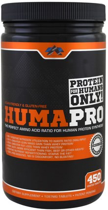 HumaPro, 1087 mg, 450 Coated Tablets by ALR Industries, 運動,補品,乳清蛋白 HK 香港