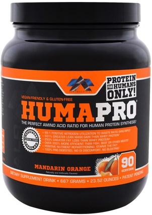 ALR Industries, HumaPro Powder, Mandarin Orange, 23.52 oz (667 g) 運動,補品,乳清蛋白