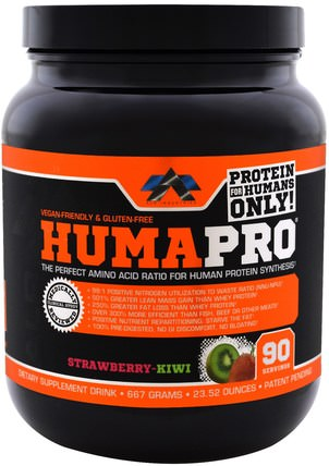 ALR Industries, HumaPro Powder, Strawberry Kiwi, 23.52 oz (667 g) 運動,補品,乳清蛋白