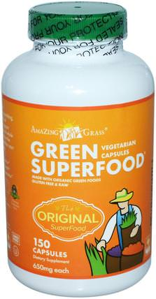 Green Superfood, 650 mg, 150 Capsules by Amazing Grass, 補品,超級食品 HK 香港