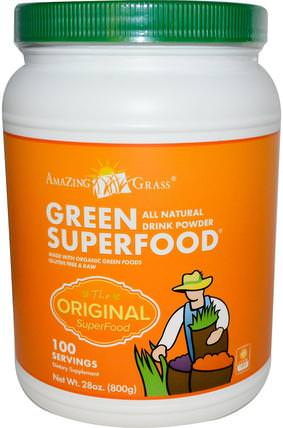 Green Superfood, All Natural Drink Powder, 28 oz (800 g) by Amazing Grass, 健康 HK 香港