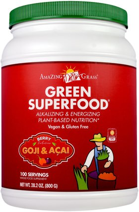 Green Superfood, Berry Infusion Drink Powder, 28.2 oz (800 g) by Amazing Grass, 健康 HK 香港
