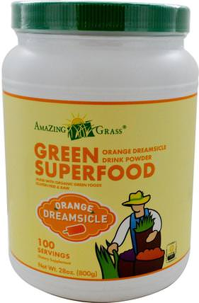 Green Superfood, Orange Dreamsicle Drink Powder, 28 oz (800 g) by Amazing Grass, 補品,超級食品 HK 香港