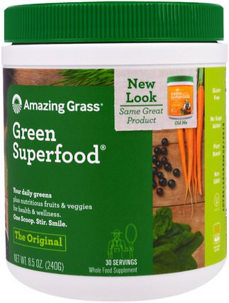 Green Superfood Original, 8.5 oz (240 g) by Amazing Grass, 補品,超級食品 HK 香港