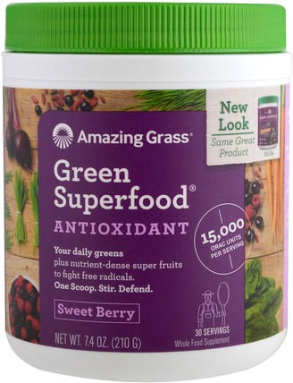 Green Superfood, Sweet Berry Flavor, 7.4 oz (210 g) by Amazing Grass, 補品,超級食品,綠色蔬菜 HK 香港