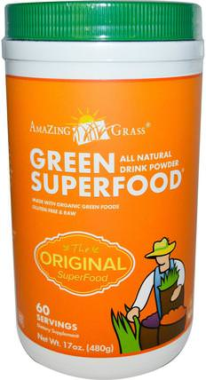 Green Superfood The Original, 17 oz (480 g) by Amazing Grass, 補品,超級食品,綠色蔬菜 HK 香港