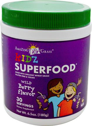 Kidz Superfood, Wild Berry Flavor, 6.5 oz (180 g) by Amazing Grass, 補品,超級食品 HK 香港