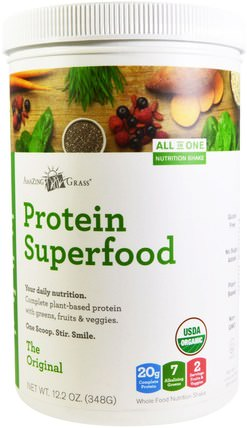 Organic Protein Superfood, The Original, 12.2 oz (348 g) by Amazing Grass, 補品,超級食品 HK 香港