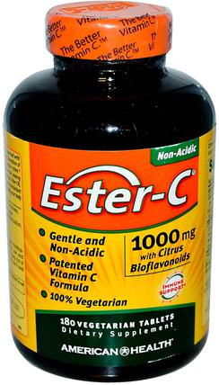 Ester-C, 1000 mg with Citrus Bioflavonoids, 180 Veggie Tabs by American Health, 維生素,維生素c,酯類c生物類黃酮 HK 香港