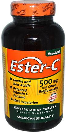 Ester-C, with Citrus Bioflavonoids, 500 mg, 450 Veggie Tabs by American Health, 維生素,維生素c,酯類c生物類黃酮 HK 香港