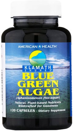 Klamath Shores, Blue Green Algae, 120 Capsules by American Health, 補充劑,藍綠藻 HK 香港