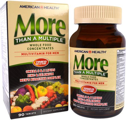More Than A Multiple, Multivitamin for Men, 90 Tablets by American Health, 維生素,男性多種維生素 HK 香港