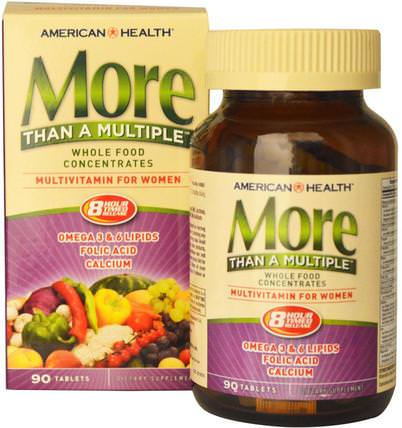 American Health, More Than A Multiple, Multivitamin for Women, 90 Tablets 維生素,女性多種維生素,女性