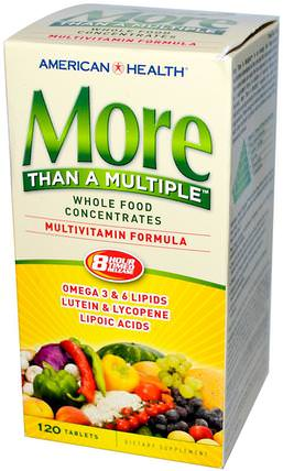 More Than A Multiple, Multivitamin Formula, 120 Tablets by American Health, 維生素,多種維生素 HK 香港