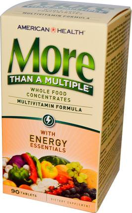 More Than A Multiple with Energy Essentials, 90 Tablets by American Health, 維生素,多種維生素 HK 香港