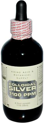 Colloidal Silver, 1.100 ppm, 4 fl oz (118.28 ml) by Amino Acid & Botanical Supply, 補充劑,膠體銀 HK 香港