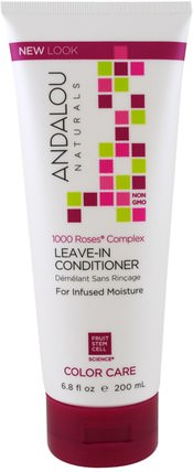 1000 Roses Complex, Color Care, Leave-In Conditioner, 6.8 fl oz (200 ml) by Andalou Naturals, 洗澡,美容,頭髮,頭皮,洗髮水,護髮素 HK 香港