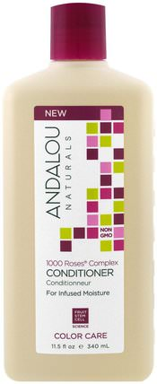 Conditioner, Color Care, For Infused Moisture.1000 Roses Complex, 11.5 fl oz (340 ml) by Andalou Naturals, 洗澡,美容,頭髮,頭皮,洗髮水,護髮素 HK 香港