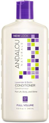Conditioner, Full Volume, For Lift, Body, and Shine, Lavender & Biotin, 11.5 fl oz (340 ml) by Andalou Naturals, 洗澡,美容,頭髮,頭皮,洗髮水,護髮素,護髮素 HK 香港