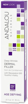 Deep Wrinkle Dermal Filler, Age Defying.6 fl oz (18 ml) by Andalou Naturals, 美容,面部護理,面霜乳液,精華素,抗皺霜,皮膚類型抗衰老皮膚 HK 香港