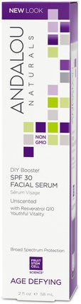 Facial Serum, SPF 30, Age Defying, Unscented, 2 fl oz (58 ml) by Andalou Naturals, 健康,皮膚血清日,美容,spf面部護理 HK 香港