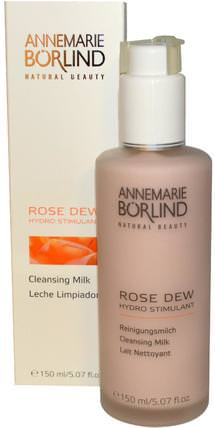 Rose Dew, Cleansing Milk, 5.07 fl oz (150 ml) by AnneMarie Borlind, 美容,面部護理,洗面奶 HK 香港