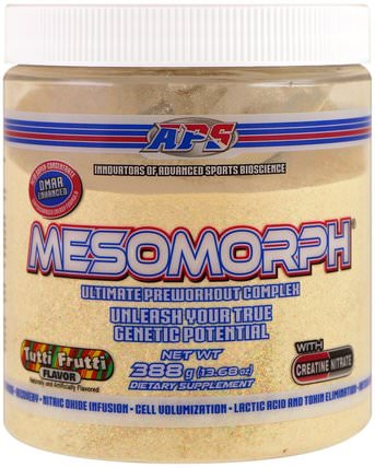 Mesomorph, Ultimate Preworkout Complex, Tutti Frutti, 13.68 oz (388 g) by APS, 健康,能量,運動 HK 香港