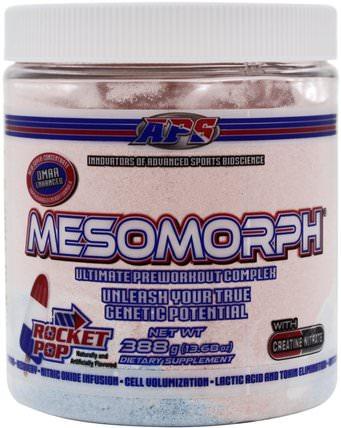 APS, Mesomorph, Ultimate Pre-Workout Complex, Rocket Pop, 13.68 oz (388 g) 健康,能量,運動