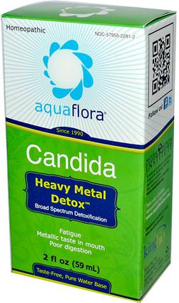 Candida, Heavy Metal Detox, 2 fl oz (59 ml) by Aqua Flora, 健康,排毒 HK 香港