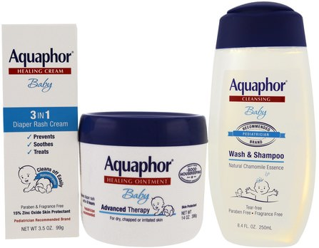 Baby Care, Welcome Baby, 3 Piece Set, Small, 3 Pieces by Aquaphor, 兒童健康,尿布 HK 香港