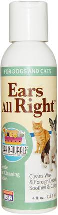 Ears All Right, Gentle Ear Cleaning Lotion, For Dogs & Cats, 4 fl oz (118.3 ml) by Ark Naturals, 寵物護理,寵物狗,寵物專用條件 HK 香港