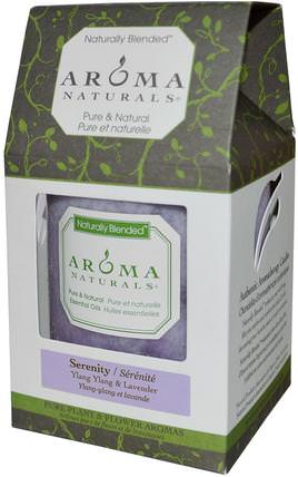 Naturally Blended, Pillar Candle, Serenity, Ylang Ylang & Lavender, 3 x 3.5 by Aroma Naturals, 洗澡,美容,蠟燭 HK 香港