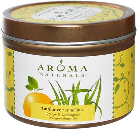 Soy VegePure, Ambiance, Orange & Lemongrass, 2.8 oz (79.38 g) by Aroma Naturals, 洗澡,美容,蠟燭 HK 香港