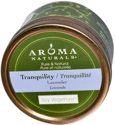 Soy VegePure, Tranquility, Travel Candle, Lavender, 2.8 oz (79.38 g) by Aroma Naturals, 洗澡,美容,蠟燭 HK 香港