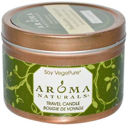 Soy VegePure, Travel Candle, Meditation, Patchouli & Frankincense, 2.8 oz (79.38 g) by Aroma Naturals, 洗澡,美容,蠟燭 HK 香港